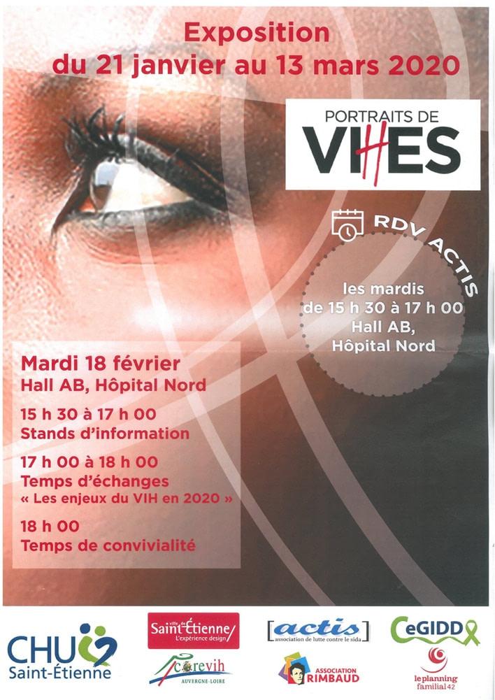 """ANNULÉ – COVID-19 – """"Portraits de VI(H)ES"""" s'expose à l'Hôpital Nord jusqu'au 13 Mars 2020"""