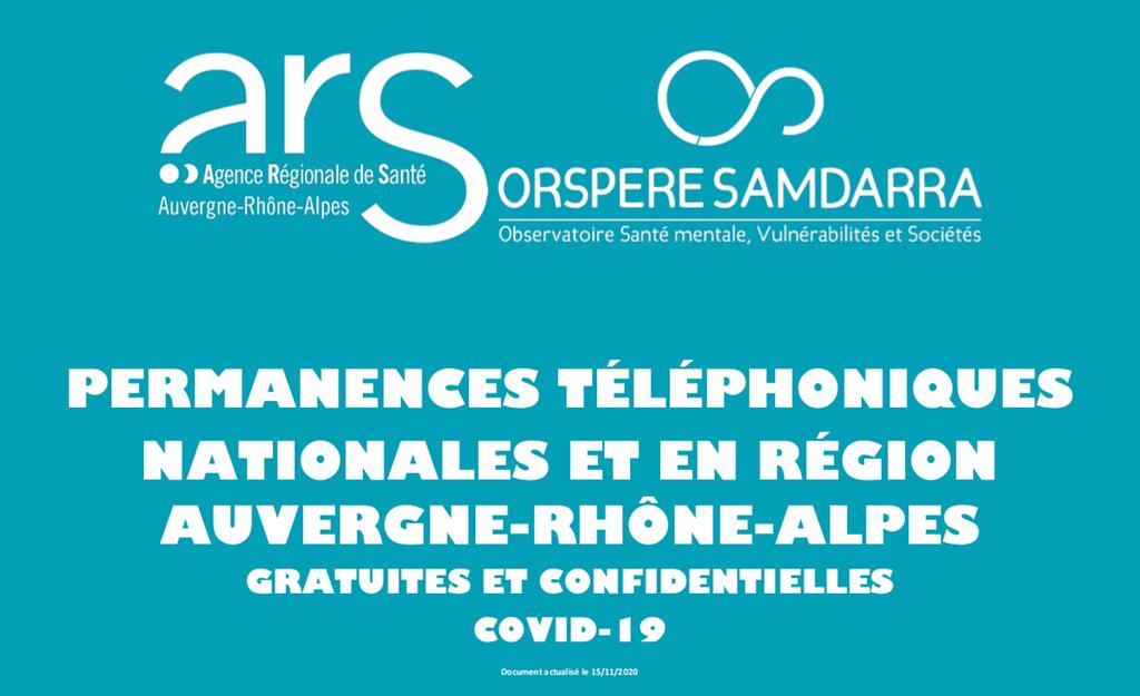 Permanences téléphoniques COVID-19
