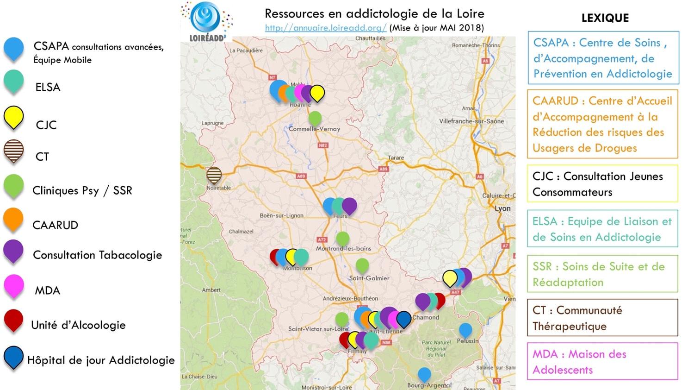 Ressources en addictologie de la Loire