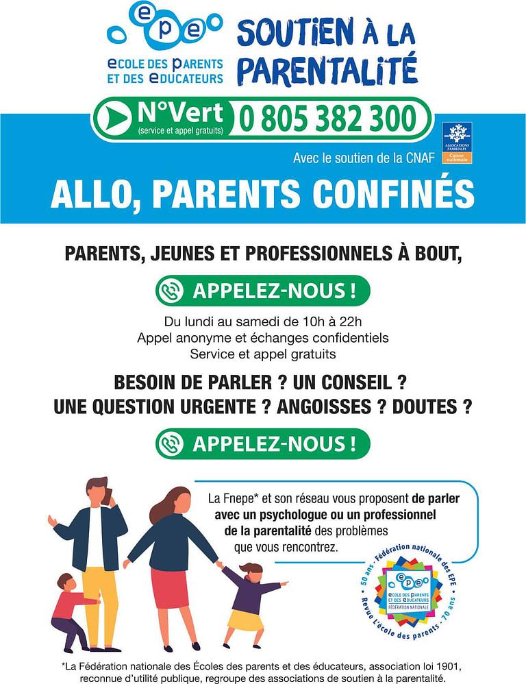 ECOLE DES PARENTS soutien covid19
